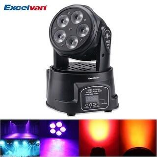 75W RGBWA LED Moving Head Light 10/15CH DMX 512 Stage Disco DJ Party Club Party