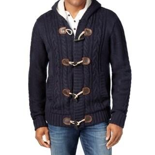 Weatherproof NEW Blue Mens Size Large L Cardigan Toggle Sweater