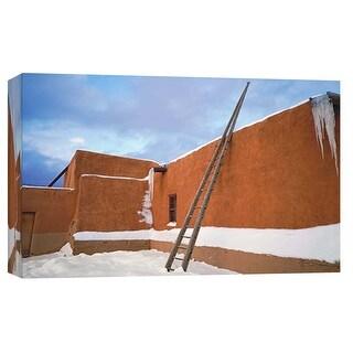 "PTM Images 9-101991  PTM Canvas Collection 8"" x 10"" - ""Picuris Pueblo 2"" Giclee Buildings and Landmarks Art Print on Canvas"