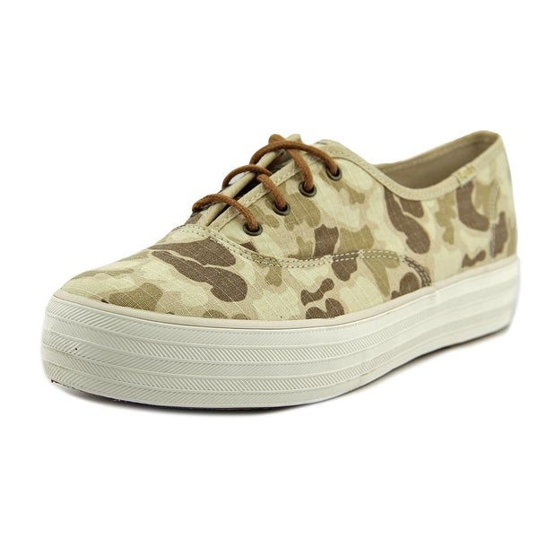 Keds Triple Camo Ripstop Women Tan Sneakers Shoes