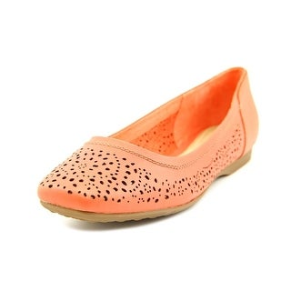 Hush Puppies Charee Callies Women Round Toe Leather Pink Flats