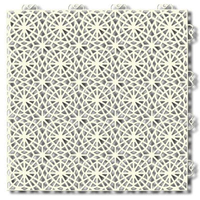 Mats Inc. Bergo XL Loose Lay Floor Tile Edging, 14 Tiles, Sandstorm