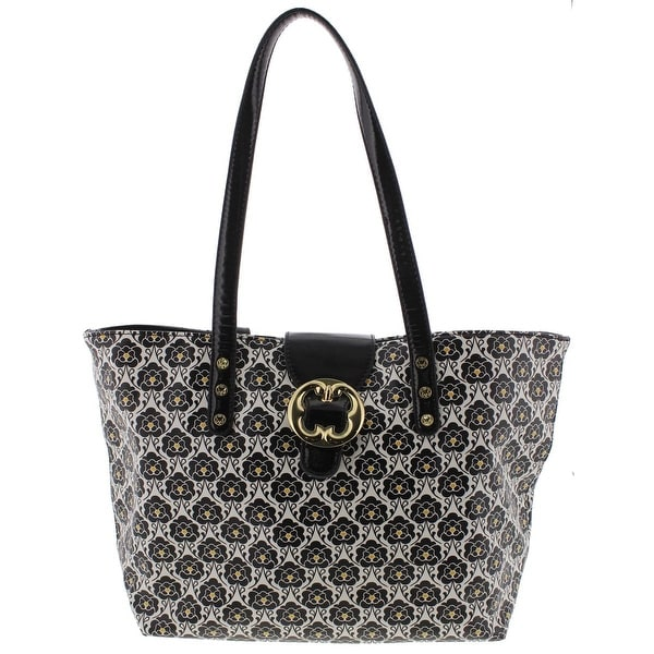 Emma Fox Womens Tote Handbag Faux Leather Fl Print Large