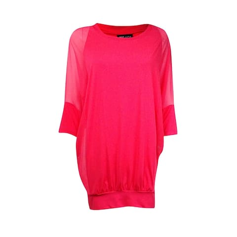 Coco Reef Women's Chiffon-Combo Cover-Up (S/M, Coral) - Coral - S/M