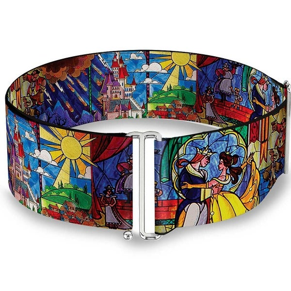 Beauty & The Beast Stained Glass Scenes Cinch Waist Belt ONE SIZE