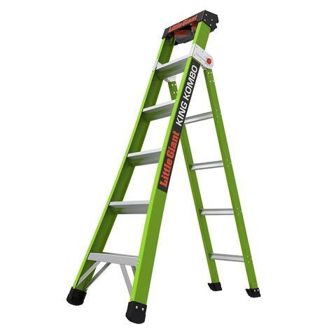 Little Giant King Kombo Professional 6'-10' Fiberglass 3-in-1 Ladder