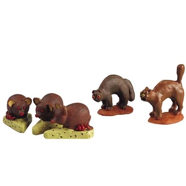 Lemax Sugar 'N Spice Halloween Village 5-Piece Cats & Mice Figurine #52003