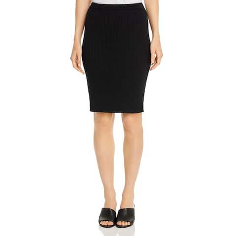 Eileen Fisher Womens Straight Skirt Merino Wool Office Wear - Black - XL