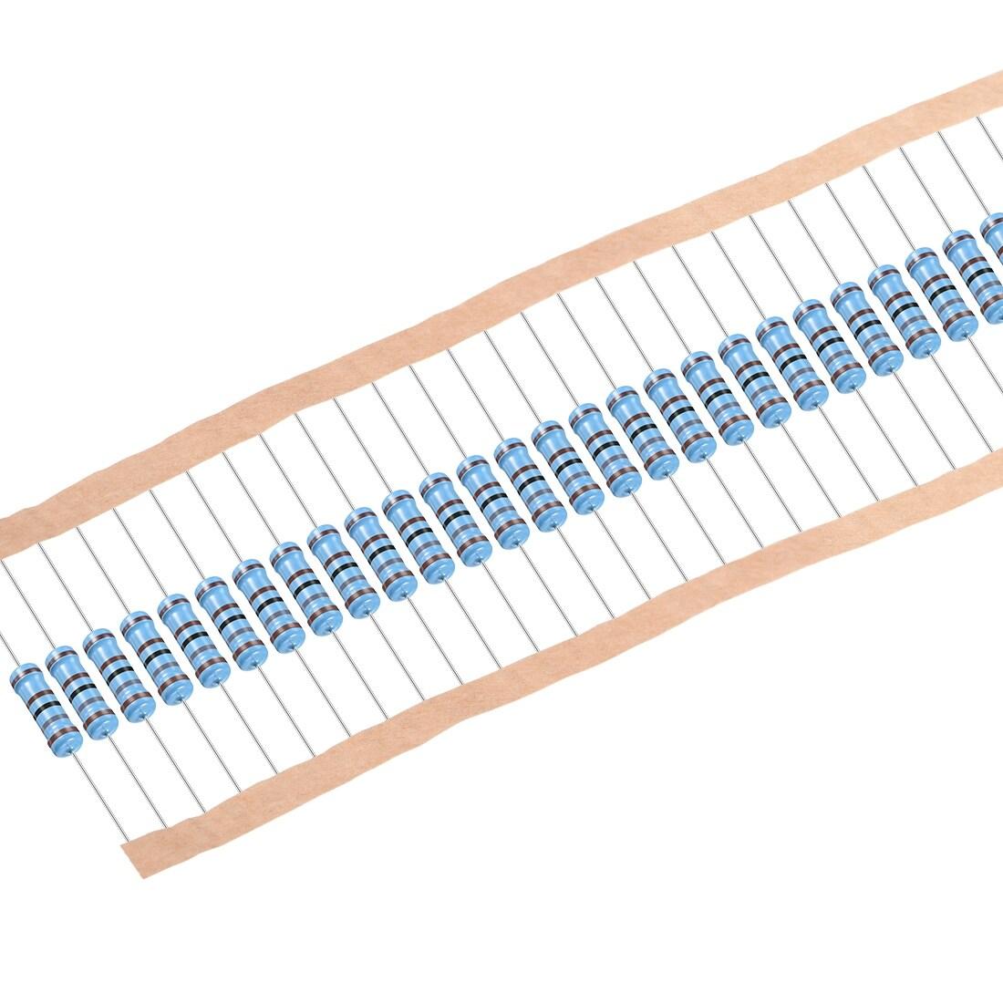 30pcs Metal Film Resistors 1.8K Ohm 2W 1%Tolerances 5 Color Bands