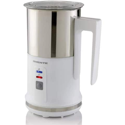 Ovente Electric Milk Frother with Nonstick Carafe, White FR1208W