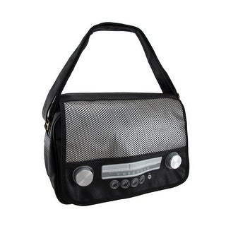 Retro Classic Radio Black Messenger Bag