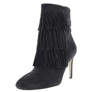 Via Spiga Womens Ankle Boots Suede Fringe
