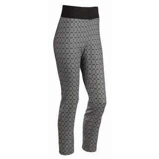 Women's Black/White Stretch Supportwaist Pant