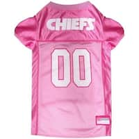 Kansas City Chiefs Pink Pet Jersey - Medium
