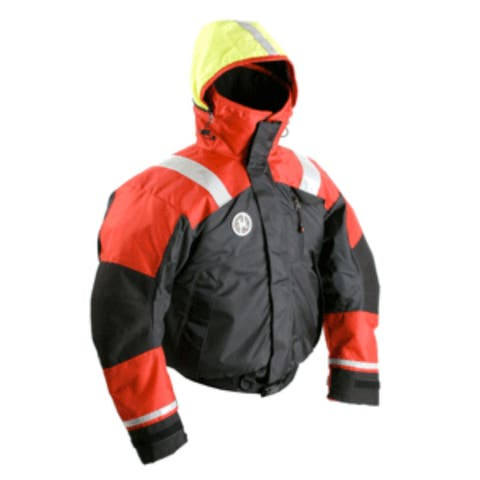 "19"" Red, Black, and Yellow Fatigue Pro Bomber High-Performance Outdoor Jacket Small"