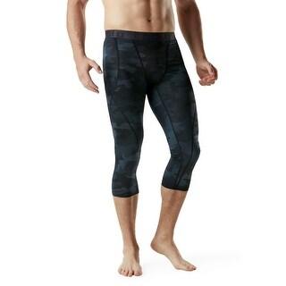 TSLA Men S Compression 3 4 Capri Pants Baselayer Cool Dry Black Size X Large