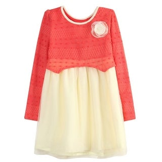 Richie House Little Girls Yellow White Bow Lace Bottom Cardigan Sweater 3-6