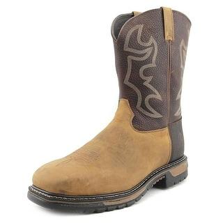 Rocky Western Saffron Men W Round Toe Leather Brown Western Boot