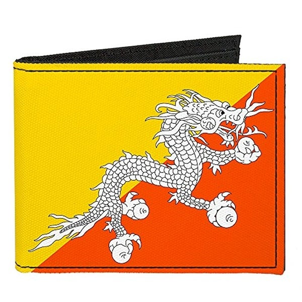Buckle-Down Canvas Bi-fold Wallet - Bhutan Flag Accessory