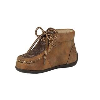 Double Barrel Western Shoes Boys Jed Lace Moc Vintage Bomber
