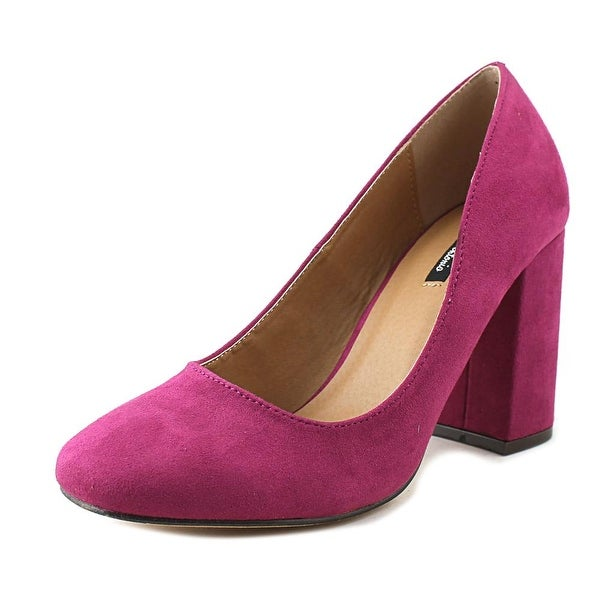 Michael Antonio Hax Women Round Toe Synthetic Purple Heels