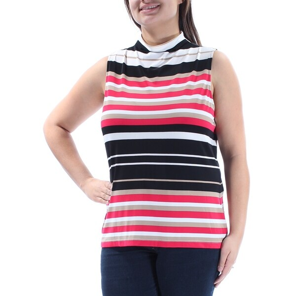 a8679386d07330 Shop TOMMY HILFIGER  39 Womens New 1043 Red Black Striped Sleeveless Top XL  B+B - Free Shipping On Orders Over  45 - Overstock - 21366886