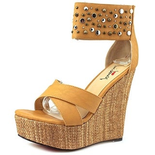 Luichiny Min Dee Open Toe Synthetic Wedge Sandal