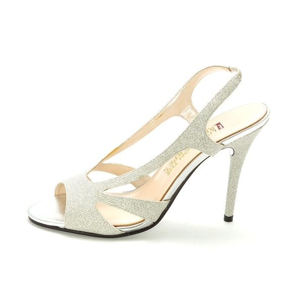 E! Live From The Red Carpet Womens E0047 Open Toe SlingBack Classic Pumps - 8.5