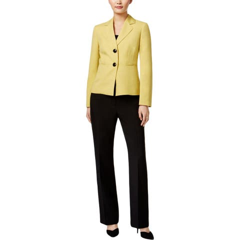 Le Suit Womens Two-Button Suit Twill Work Wear