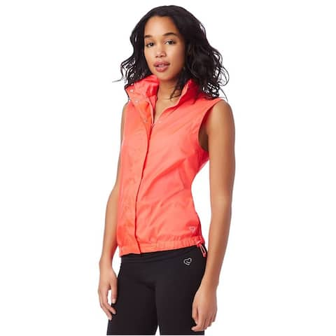 Aeropostale Womens Sleeveless Windbreaker Jacket, Pink, Medium
