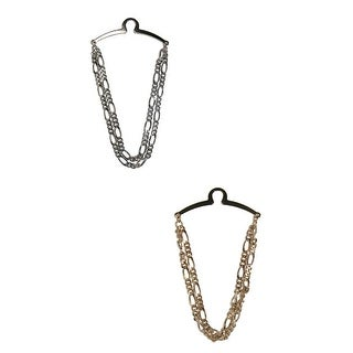 Competition Inc. Men's Double Figaro Link Style Tie Chain - Gold/Silver - One size