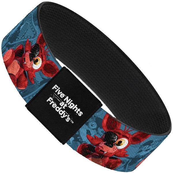 "Foxy Plushie Nightmare Foxy Blues Elastic Bracelet 1.0"" Wide"