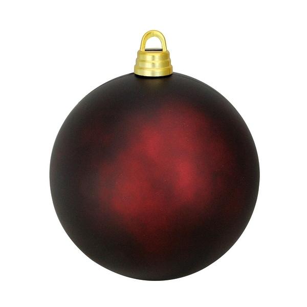 "Matte Burgundy Red Shatterproof Christmas Ball Ornament 12"" (300mm). Opens flyout."