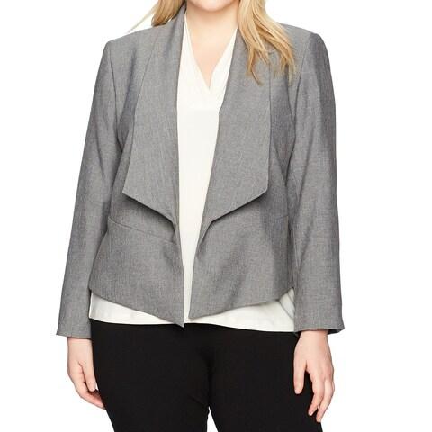 Nine West Gray Greystone Women's Size 22W Plus Fly Away Jacket