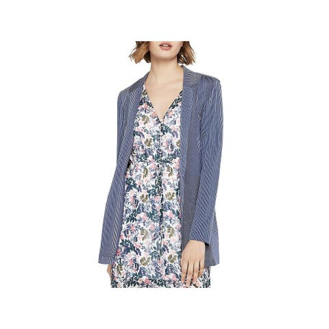 BCBGeneration Womens Open-Front Blazer Pinstripe Long Sleeves - M