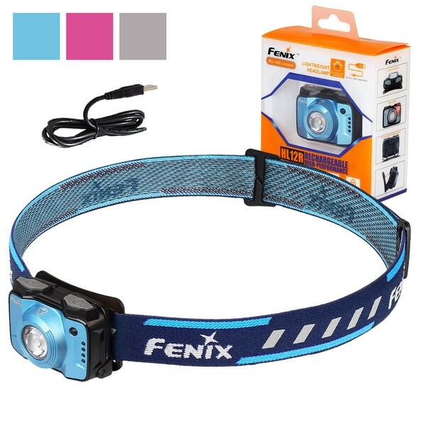 Fenix HL12R 400 Lumen Micro-USB Rechargeable Neutral White Headlamp (Blue)