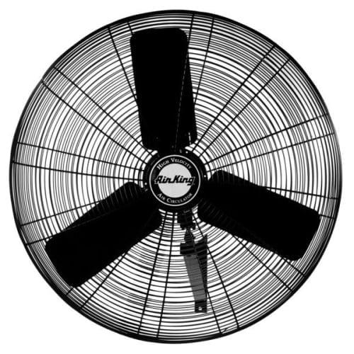 "Air King 9074 24"" 5770 CFM 3-Speed Industrial Grade Oscillating Wall Mount Fan"