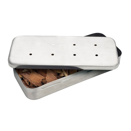 "Grillmark 00185A BBQ Smoker Box, 8"" x 5"" x 2"", Stainless Steel"