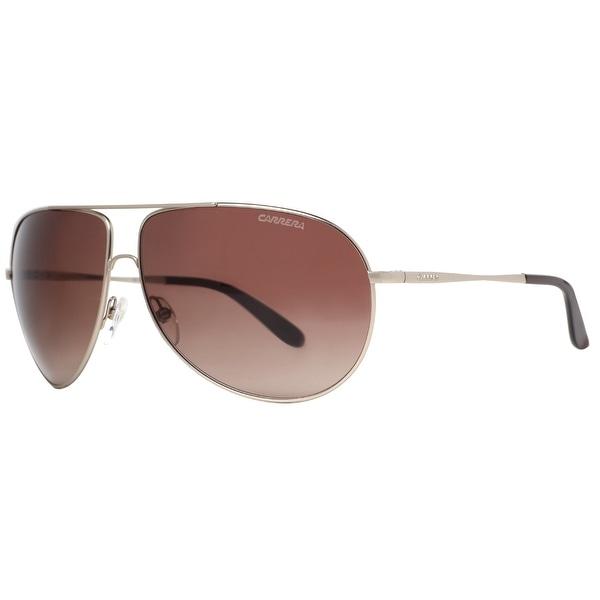 Carrera New Gipsy/S AOZ/J6 Matte Gunmetal/Brown Aviator Sunglasses - matte gunmetal - 64mm-11mm-125mm