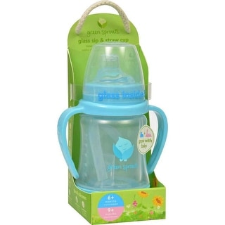 Green Sprouts Cup, Green Sprouts Cup Sip N Straw Glass 6 Months Plus Aqua - 1 Count