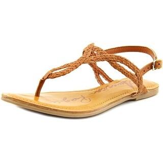American Rag Keira Women Open Toe Synthetic Brown Thong Sandal