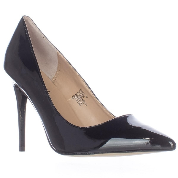 madden girl Ohnice Pointed Toe Dress Pumps, Black Patent - 6.5 us