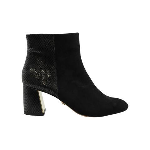 Xoxo Womens Khana Dress Booties Suede Almond Toe Ankle Fashion Boots