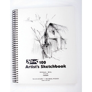 Sax Artists Sketchbook, 80 lb, 11 x 14 in, White
