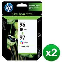 HP 96 Black & 97 Tri-color 2-pack Original Ink Cartridges (C9353FN) (2-Pack)