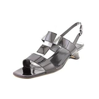 Vaneli Berdine Women W Open-Toe Synthetic Black Slingback Sandal
