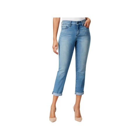 NYDJ Womens Alina Ankle Jeans Cuffed Mid-Rise