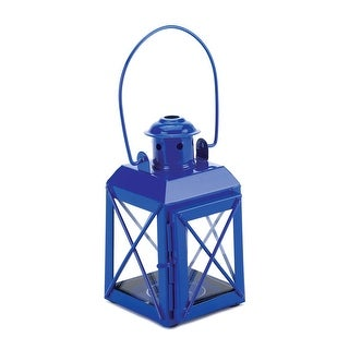 Blue Railway Candle Lantern Lamp
