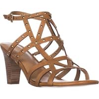 Franco Sarto Calesta Heeled Sandals, Tan Leather