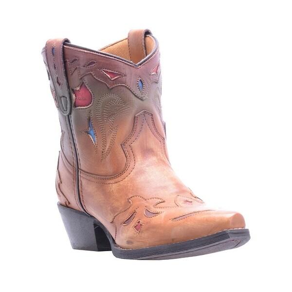 Laredo Western Boots Womens Snip Umber Flashy Cowboy Cognac